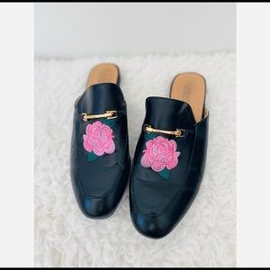Catherine Malandrino Floral Embroidered Mules